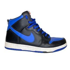 NIKE DUNK HIGH CMFT (705434-400) BLACK & BLUE (10 US)